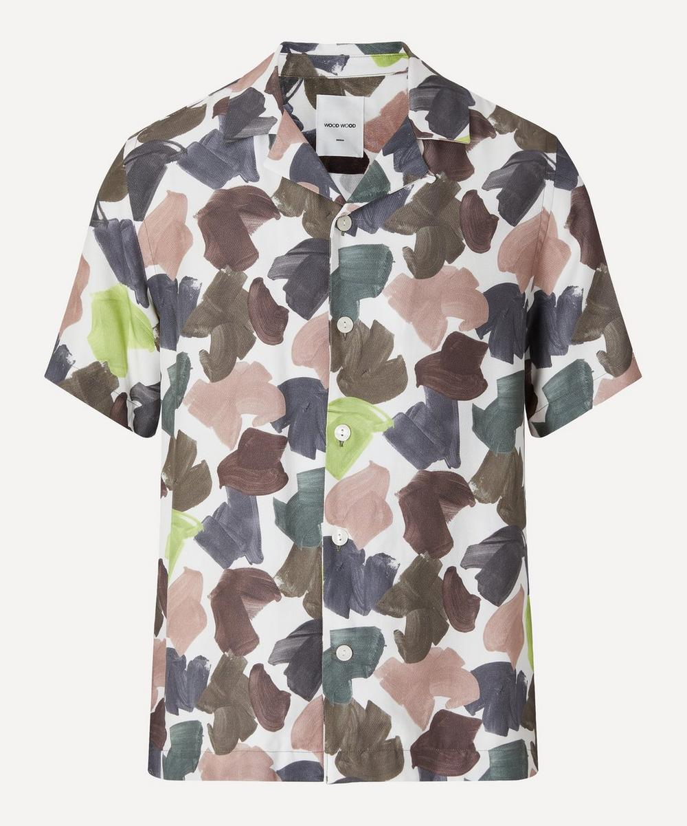 Brandon Brush Print Short-Sleeve Shirt
