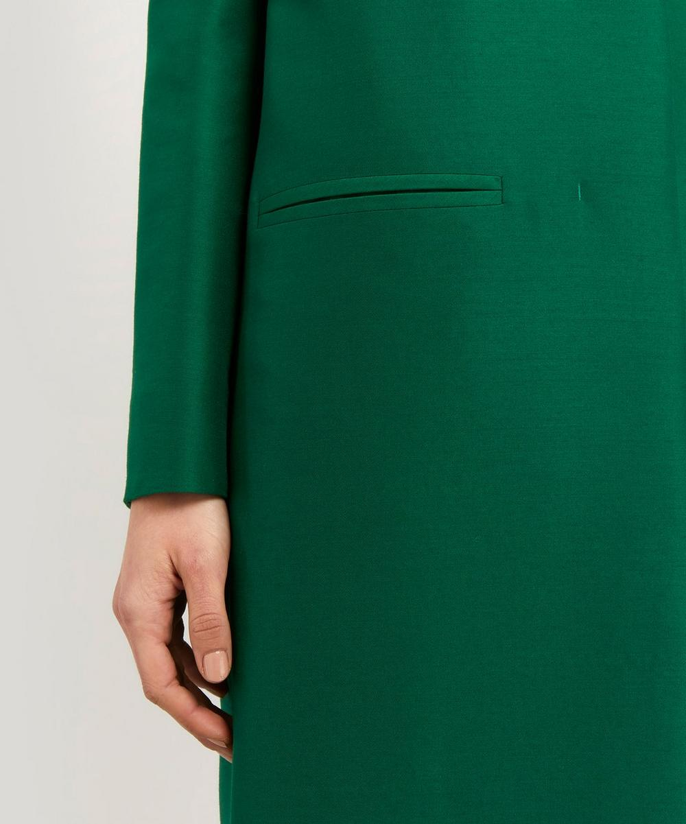 Wool and Silk-Blend Collarless Coat