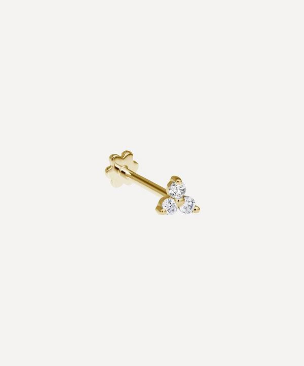 Maria Tash - 18ct Diamond Trinity Single Threaded Stud Earring