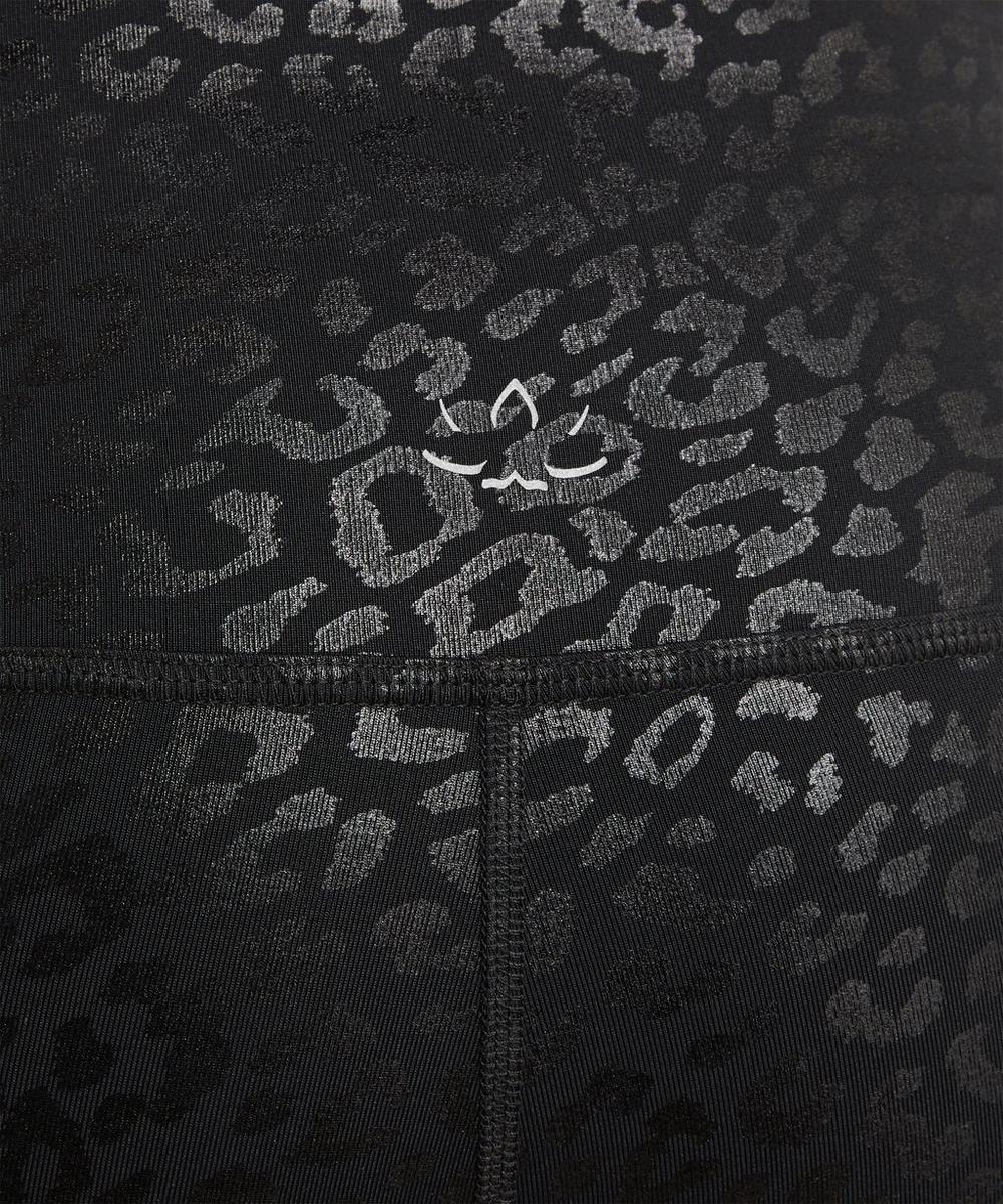 Shiny Leopard High Waist Leggings
