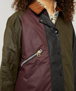 X ALEXACHUNG Patch Wax Jacket