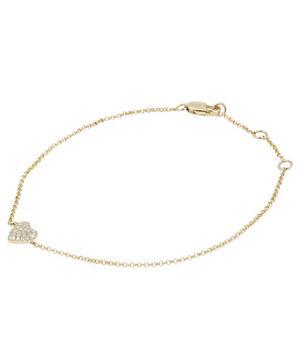 Gold Heart On Your Sleeve Diamond Bracelet