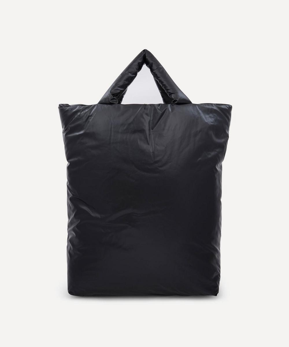 Kassl Editions Extra Large Oil Tote Bag In Light Black