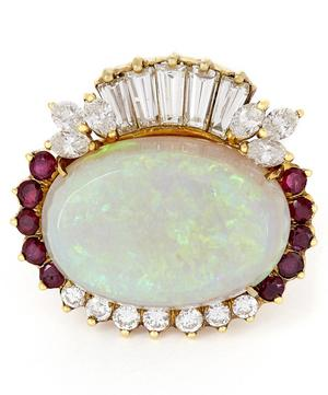 Gold Multi-Stone Opal and Diamond Ring