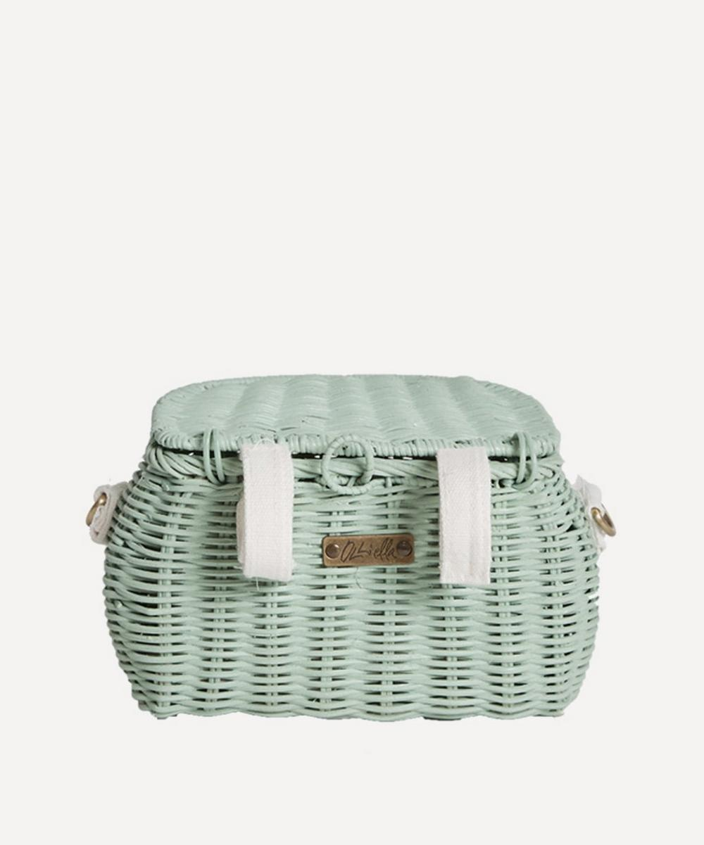 Mini Chari Basket Bag in Mint