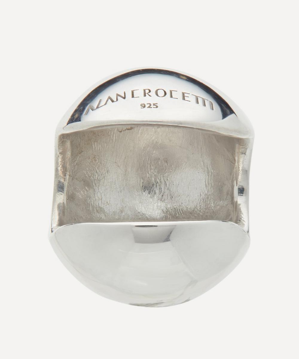 Rhodium-Plated Sphere 15 Ear Cuff