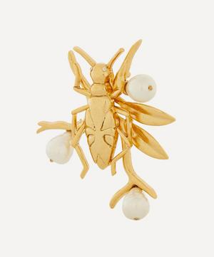 Pearl and Bug Brooch