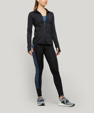 Mesh-Trimmed Stretch-Jersey Jacket