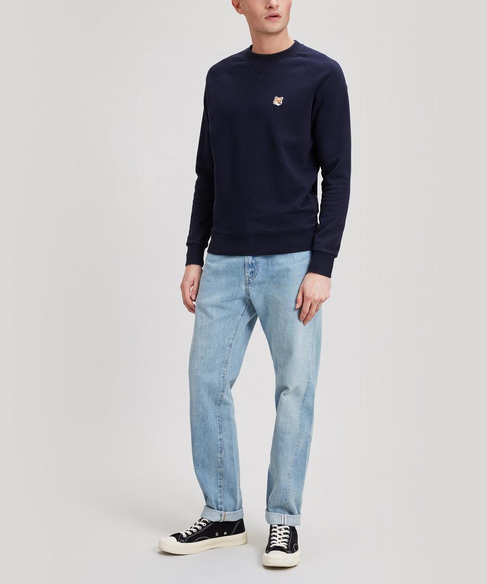 Fox Head Patch Cotton Sweater