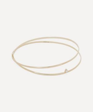 Gold Diamond Double Bangle