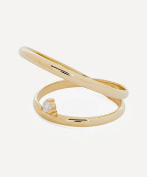Gold Elipse Diamond Ring