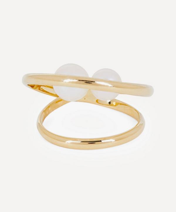 Mizuki - 14ct Gold Elipse Pearl Ring