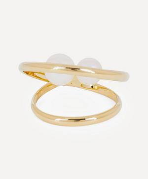 14ct Gold Elipse Pearl Ring