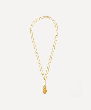 Gold-Plated The Hand of Protection Pendant Necklace