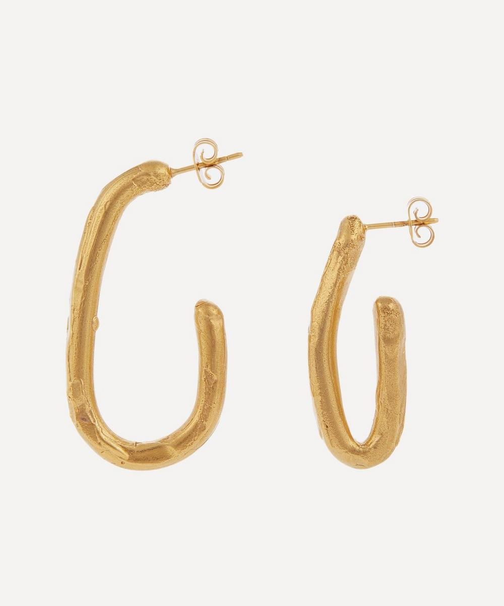 Gold-Plated A Mind in Flight Mismatched Hoop Earrings