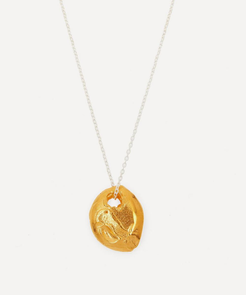 Silver and Gold-Plated The Horizon in Sight Pendant Necklace