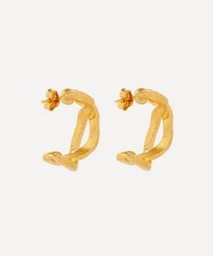 Gold-Plated The Orbit of the Writer Hoop Earrings