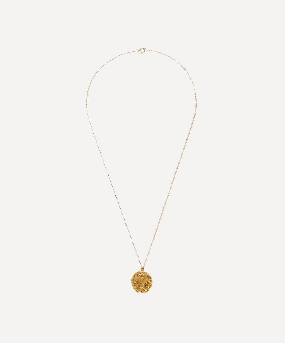 Gold-Plated The Renaissance Medallion Pendant Necklace