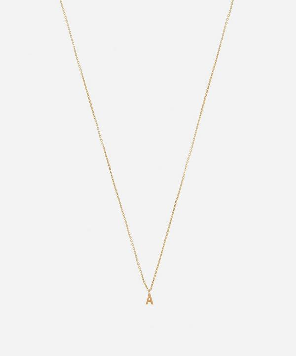 AURUM + GREY - 9ct Gold A Initial Pendant Necklace