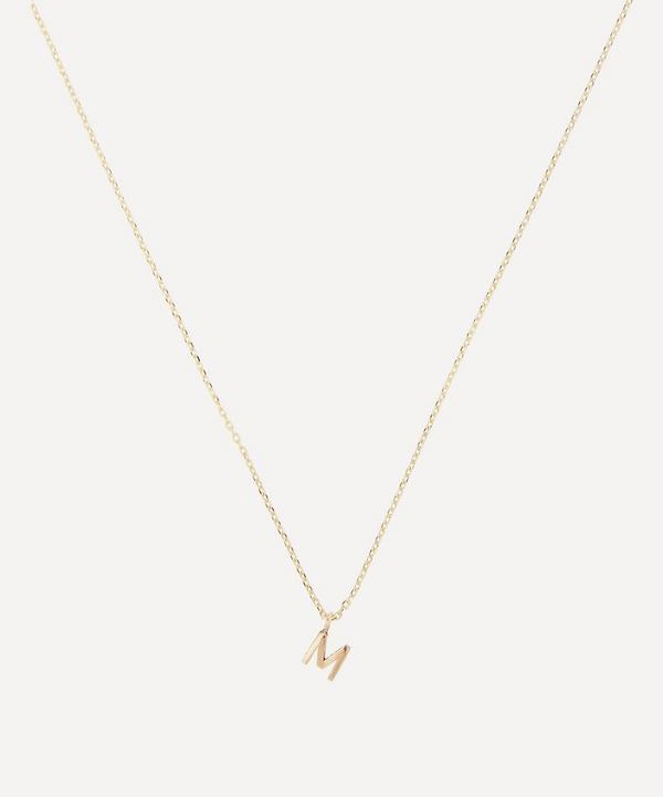 AURUM + GREY - 9ct Gold M Initial Pendant Necklace