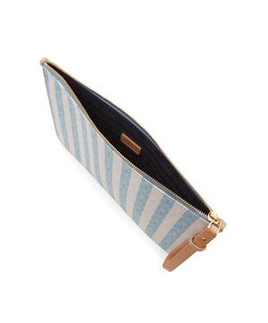 Iphis Stripe Large Clutch Pouch
