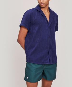 Cuba Terry Cotton Open Collar Shirt