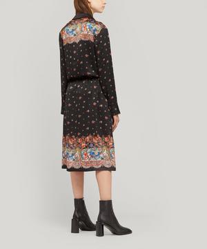 Silk Satin Drawstring Shirt Dress
