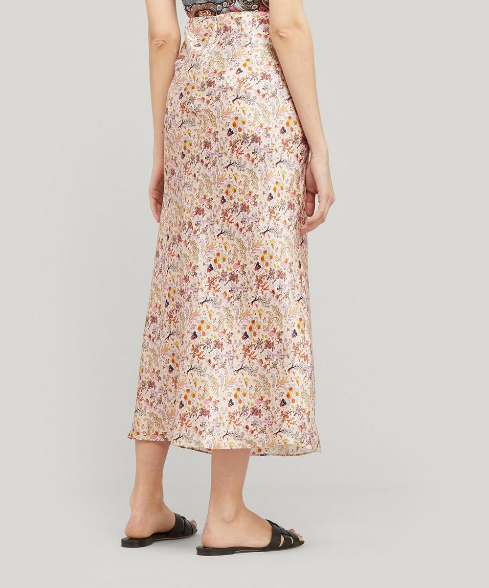 Liddell Silk Satin Bias-Cut Skirt