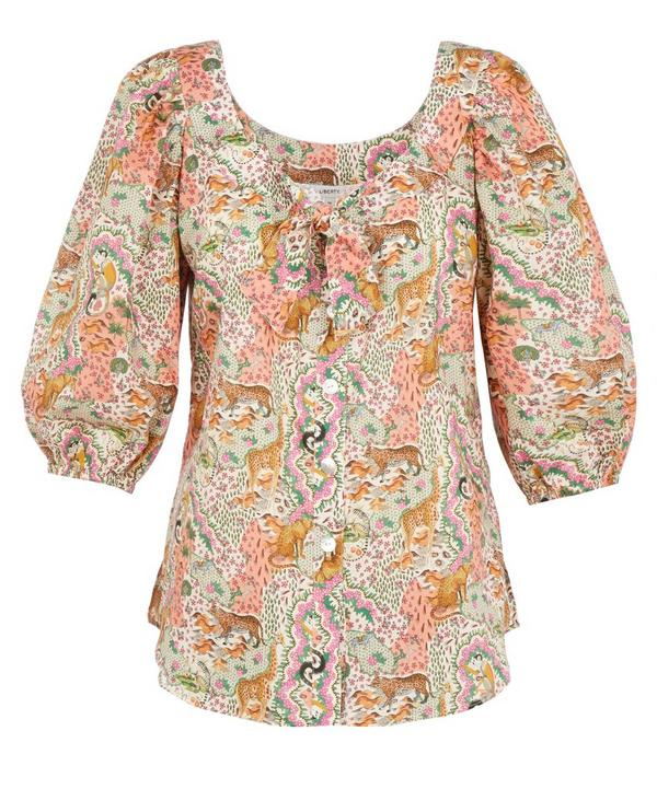 Maxine Tana Lawn™ Cotton Puff Sleeve Blouse