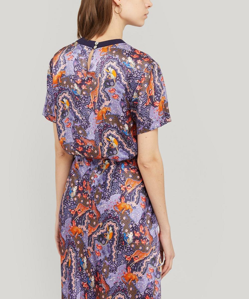 Maxine Silk Satin T-Shirt