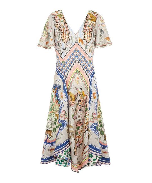 Sedona Silk Satin Scarf Dress