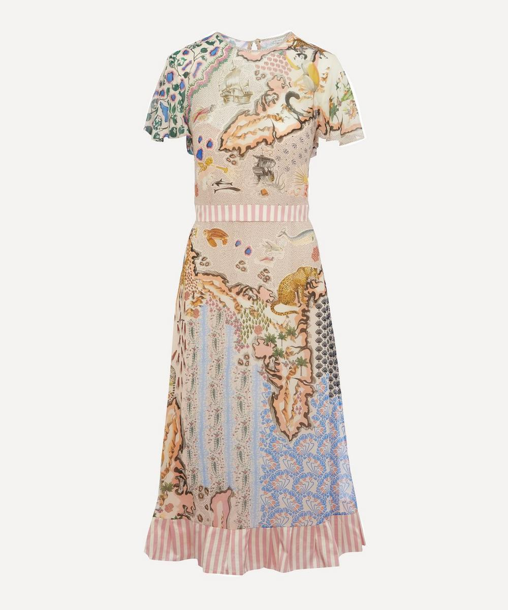 Liberty London Sedona Georgette Midi Dress In Assorted