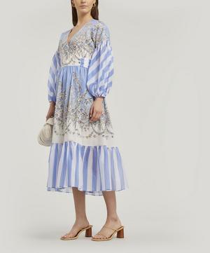 Octavie Long Cotton Wrap Dress