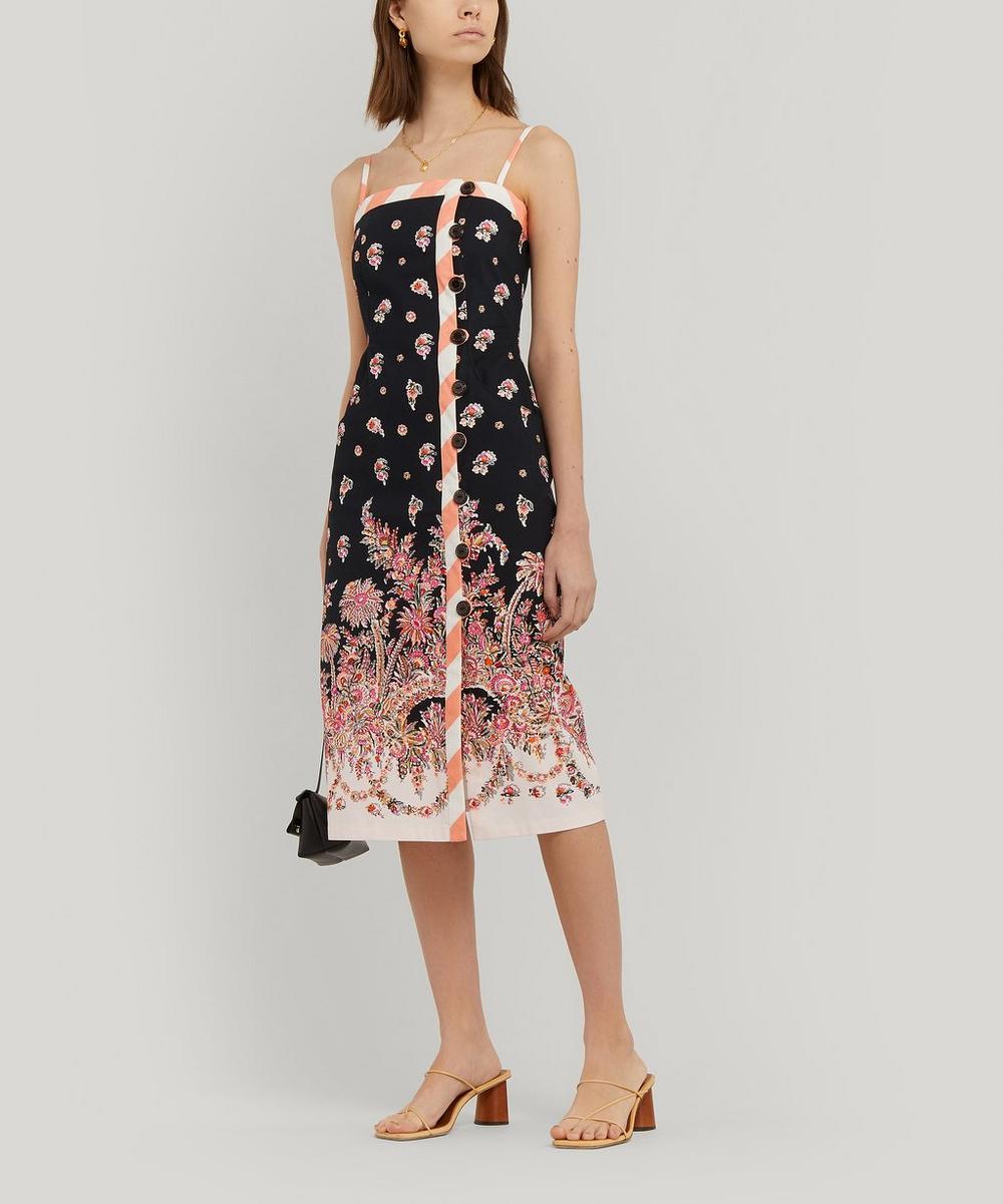 Octavie Stretch Cotton Strappy Shift Dress