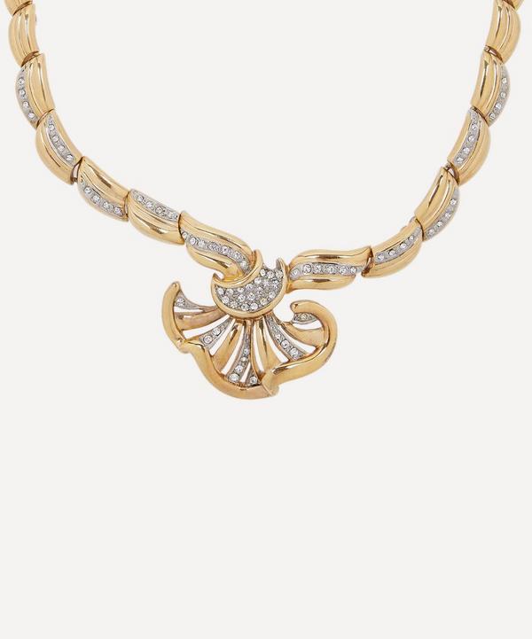 Designer Vintage - 1950s Gilt Faux Diamond Necklace