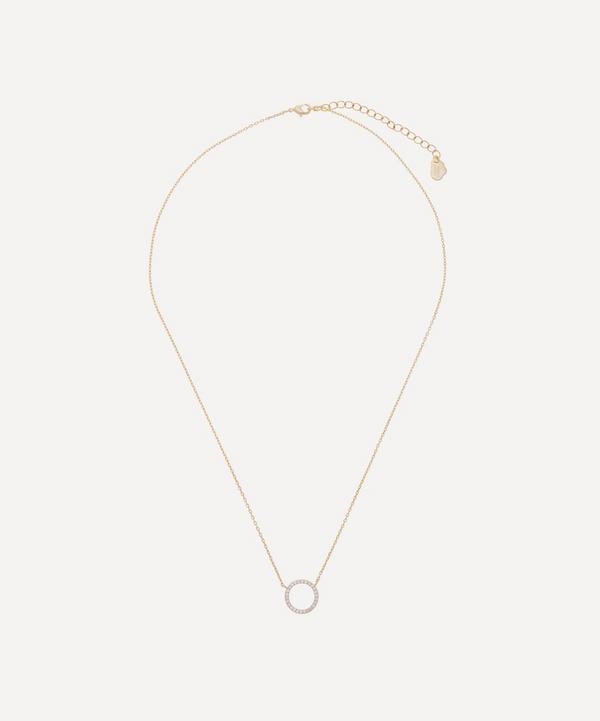 Estella Bartlett - Gold-Plated Cubic Zirconia Circle Pendant Necklace