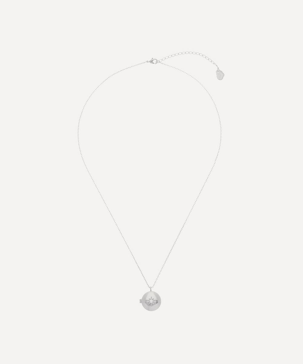 Estella Bartlett - Silver-Plated Cubic Zirconia Locket Pendant Necklace