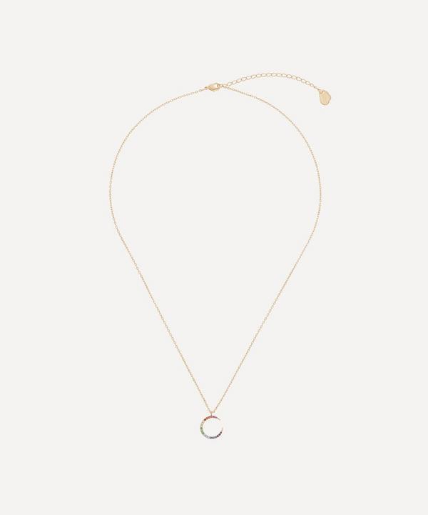 Estella Bartlett - Gold-Plated Cubic Zirconia Moon Pendant Necklace