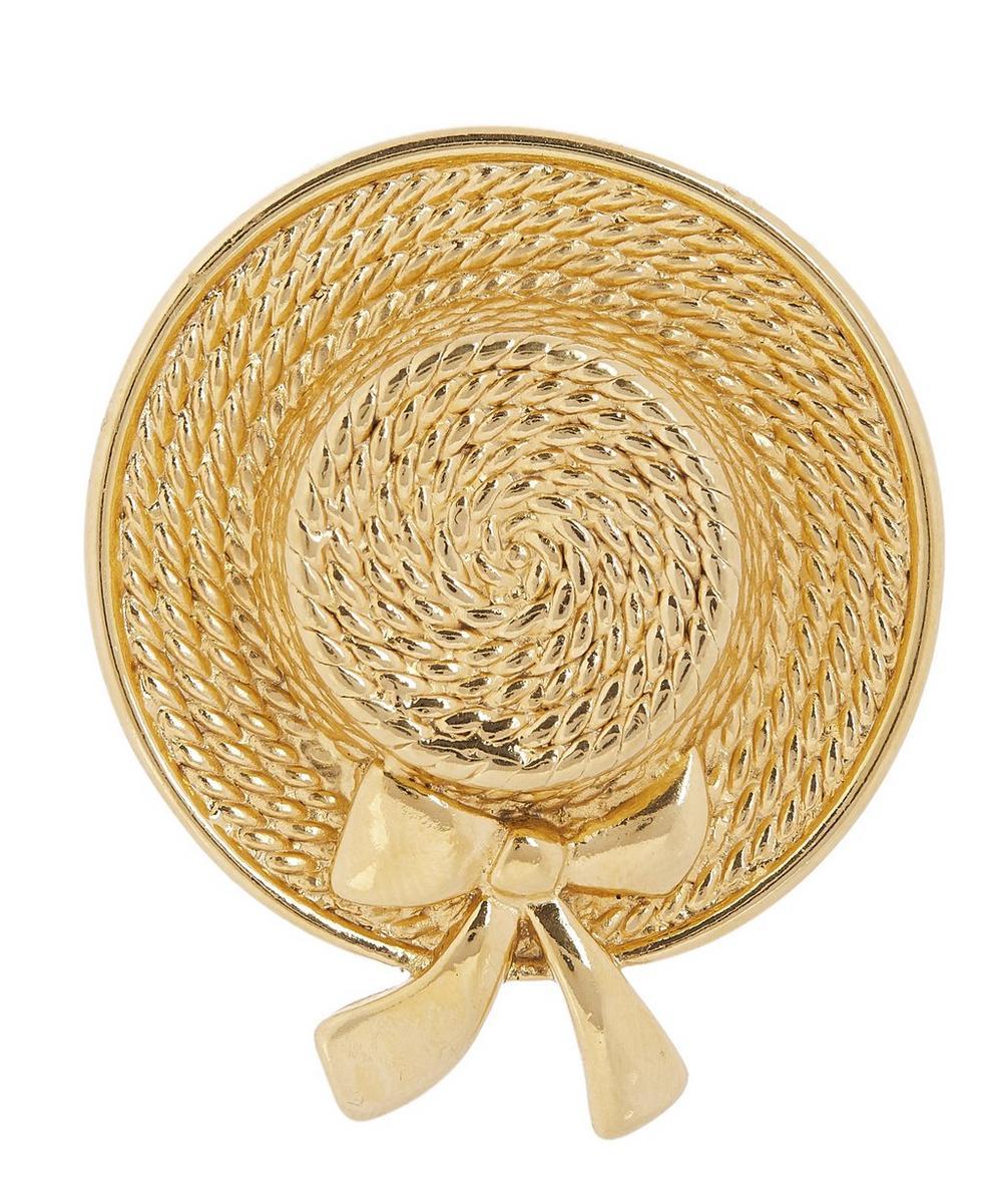 1970s Chanel Gilt Hat Brooch