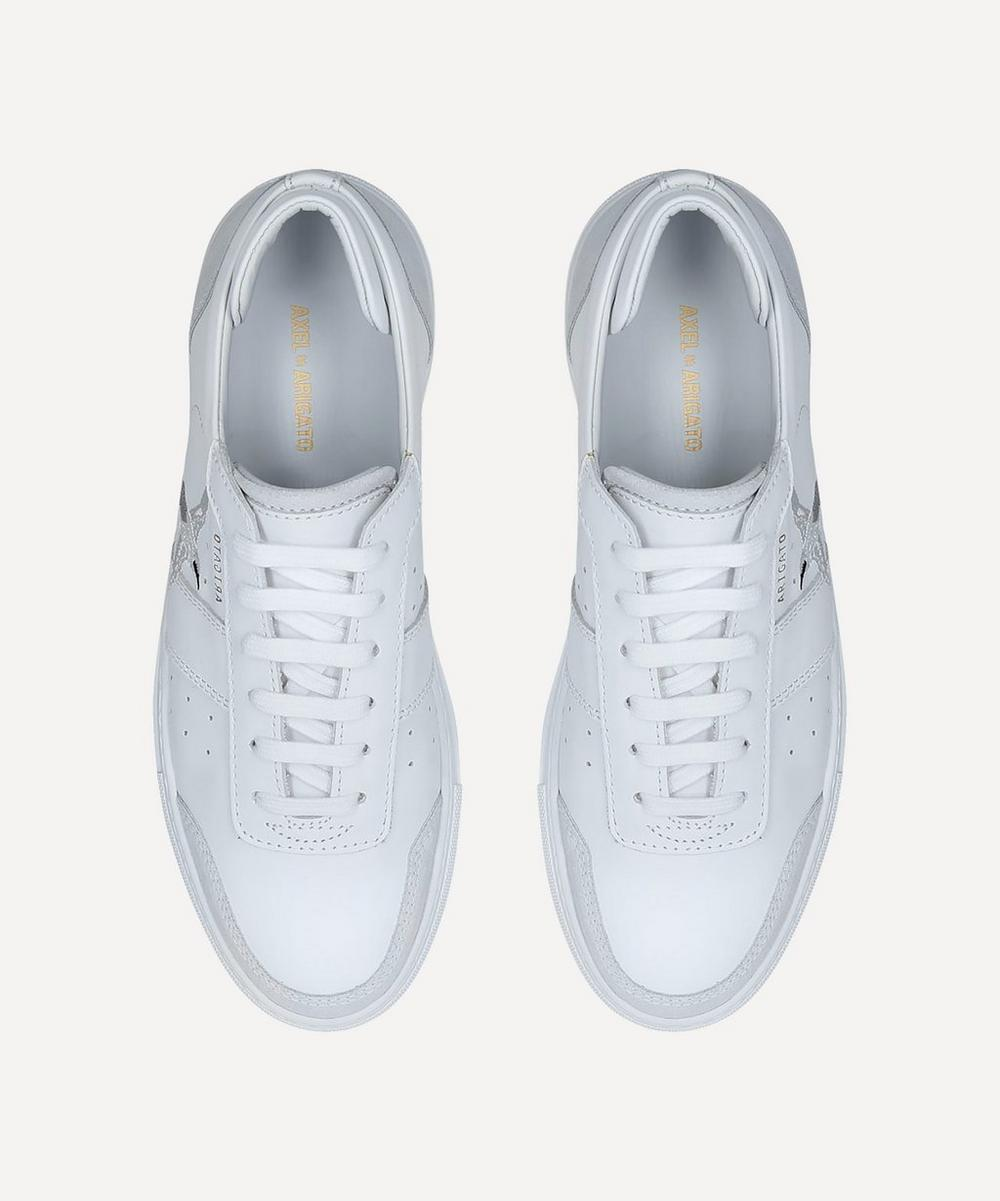 Dunk Bird-Embroidered Leather Sneakers