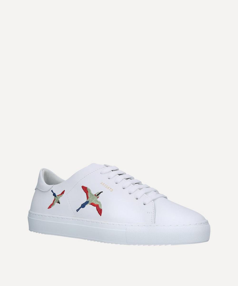 Clean 90 Bird-Embroidered Leather Sneakers