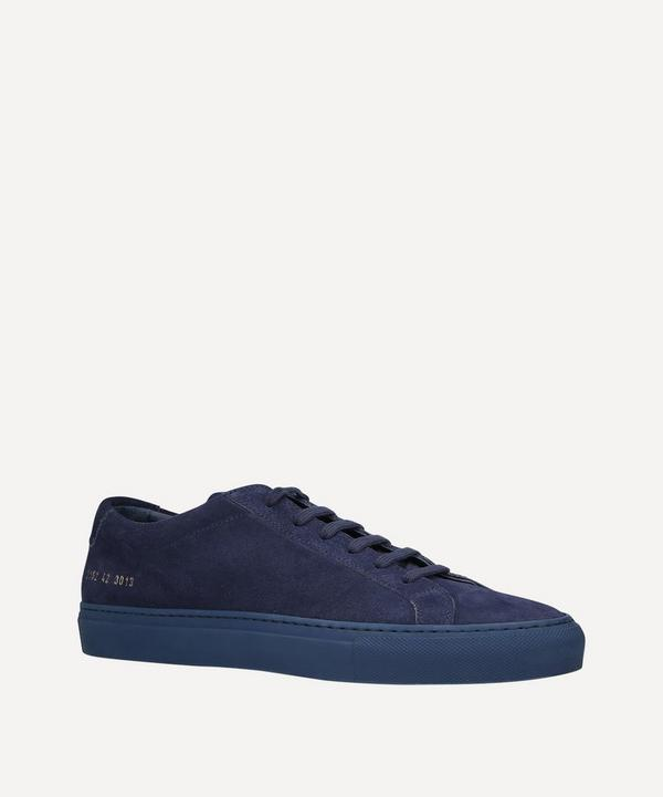 Common Projects - Achilles Suede Low-Top Sneakers