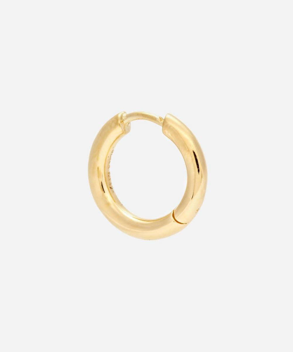 Maria Black Gold-plated Polo Huggie Hoop Earring