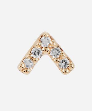 Gold Velvet Diamond Stud Earring