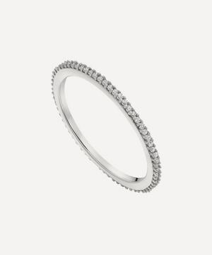 Silver Skinny Diamond Eternity Ring