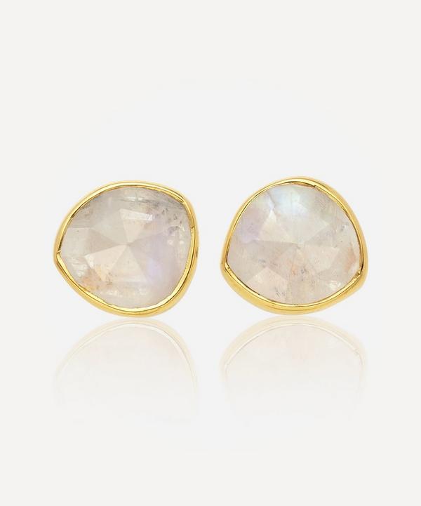Monica Vinader - Gold Plated Vermeil Silver Siren Moonstone Stud Earrings