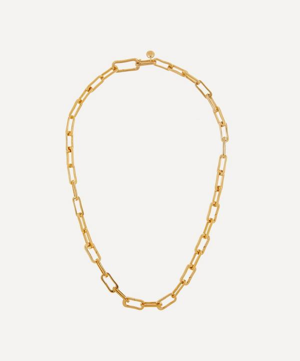 Monica Vinader - Gold Plated Vermeil Silver Alta Capture Charm Necklace