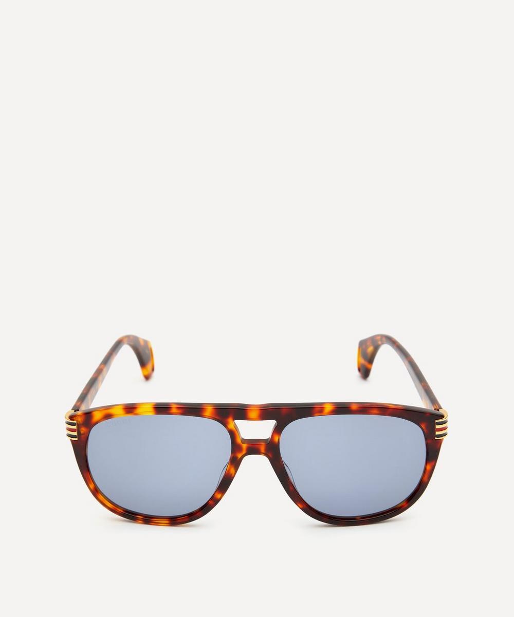Aviator Tortoiseshell Acetate Sunglasses
