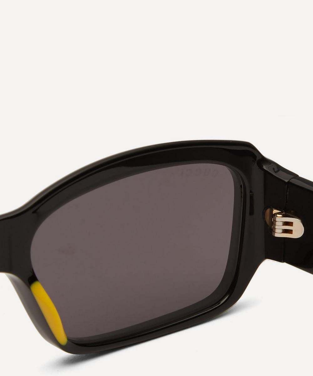 Bold Rectangular Acetate Sunglasses