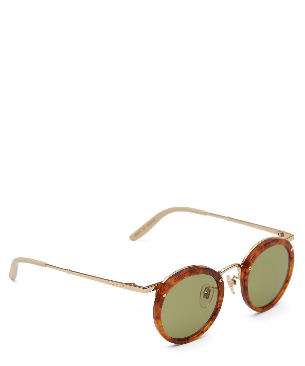 Round Acetate and Metal Sunglasses